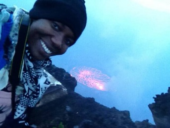 Selfie!!! almost dropped my phone in the crater.
